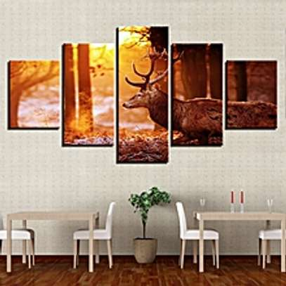 5 Sets Modern Home Bedroom Wall HD Picture Woods