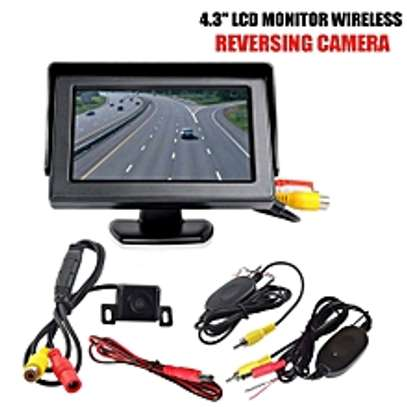 """Wire-less IR Reversing Parking Camera+4.3"""" LCD Monitor"""