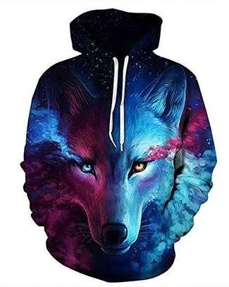 3D Wolf Hoodie