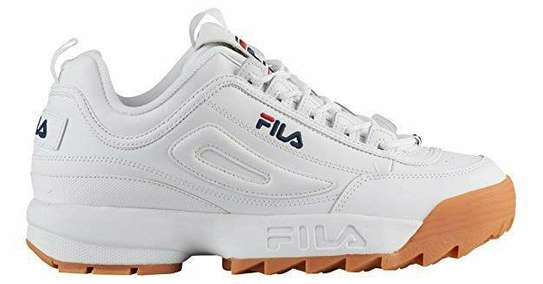 White Fila with Rubber Soles image 1
