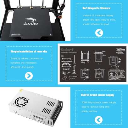 CREALITY Ender-5 3D Printer; Dual Y-axis Motors; Magnetic Build Plate; Power off Resume Printing; Enclosed Structure image 5