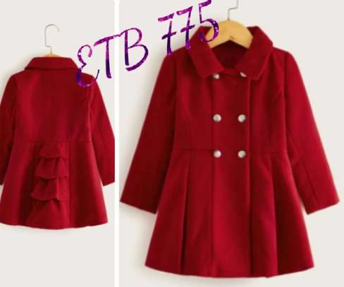 Toddler Girls Double Breasted A - Line Peacoat