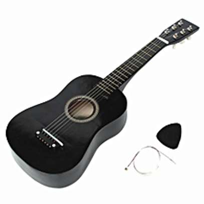 HOT New Beginners Black Basswood Acoustic Guitar image 1