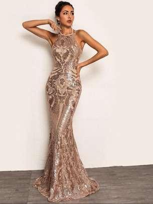 Tie Back Chain Fishtail Luxury Dress