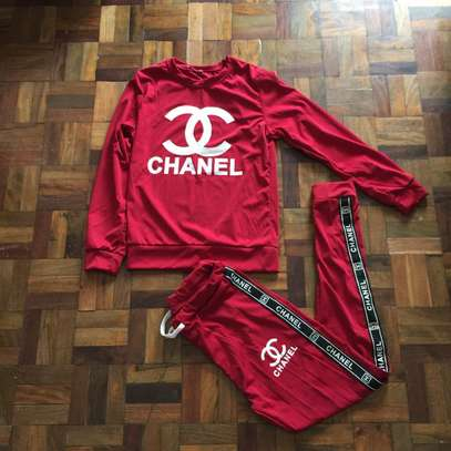 Red Chanel Women's Sweat Set