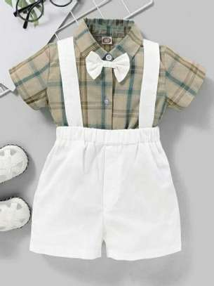 Grey And White New Fashion Kids Dress