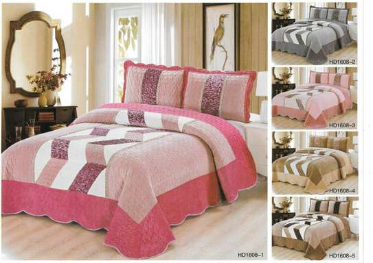 3 pcs king size bed cover