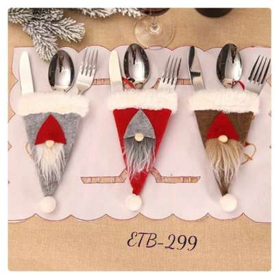 1PC Christmas Gnome Design Cutlery Holder