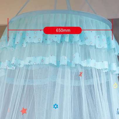 Easy to Install Kids Baby Bedding Dome Bed Netting Canopy  Lace Bed Canopy Dome hanging mosquito net Girls Room Decor image 2
