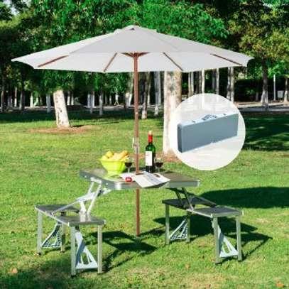 Folding Picnic Table (Aluminium) image 1