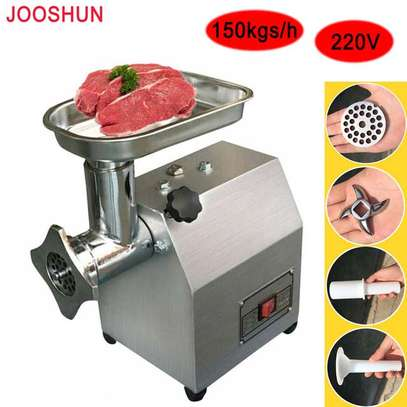 60kg/h Commercial 220V Electric Meat grinder Stainless steel Home Use 400W image 1