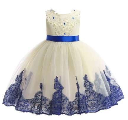Toddler Girls Appliques Contrast Sequin Grown Dress