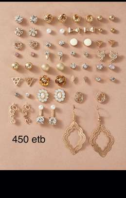 30 Pairs Flower & Bow Knot Designs Earrings image 1