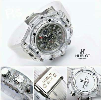 HUBLOT TRANSPARENT WATCH image 1