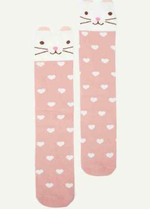 Girls Cartoon Heart Print Socks