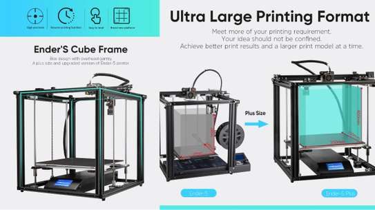 CREALITY Ender-5 Plus 3D Printer; Dual Y-axis Motors; Glass Build Plate; Power off Resume Printing; Masks Enclosed Structure image 3