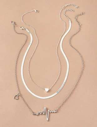 Heartbeat Shaped Necklace image 1