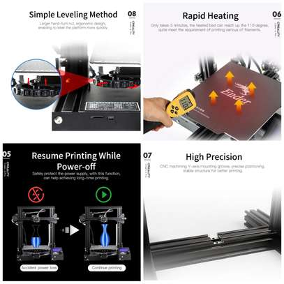 CREALITY Ender-3 Pro 3D Printer; Magnetic Build Plate; Resume Power Failure; MeanWell Power Supply; DIY Assembly Printer Kit image 4