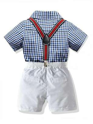 Blue And White New Fashion Kids Body And Short Clothe