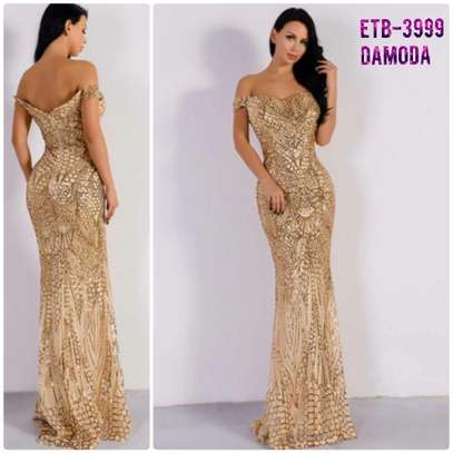 Missord Zip Back Mermaid Bardot Sequin Prom Dress