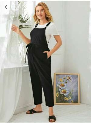 Maternity Self Belted Jumpsuit