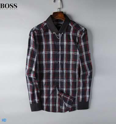 BOSS Men's Long Sleeve Button Down Shirt in Classic Fit