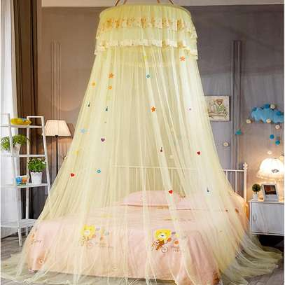 Easy to Install Kids Baby Bedding Dome Bed Netting Canopy  Lace Bed Canopy Dome hanging mosquito net Girls Room Decor image 5