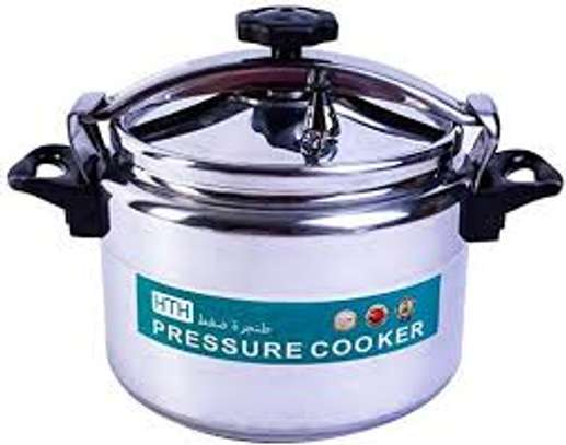 HTH 9L Pressure Cooker Aluminum for Household,Super-pressure Cooker Secure Cookerware, Silver