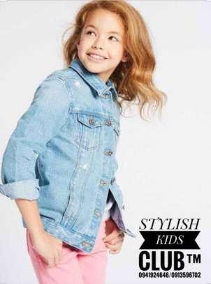 Kids Light Wash Jean Jacket For Girls image 2