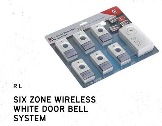 Six Zone Wireless White Door Bell System image 1