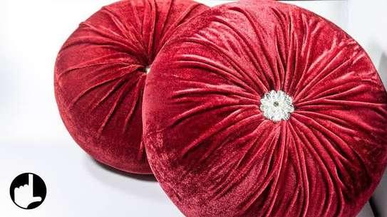 pumpkins round velvet pillows image 2
