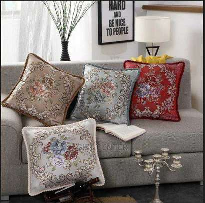 Yellow Geometry Cushion Cover 45x45 Pillow Decorative Cushions For Sofa Flowers Decoration Pillowcover image 2