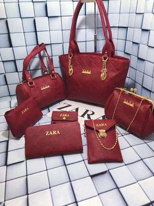 Assorted Colors Zara 7 Pcs Set Handbag