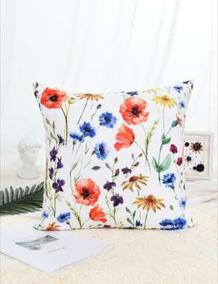 Floral Pattern Print Cushion Cover