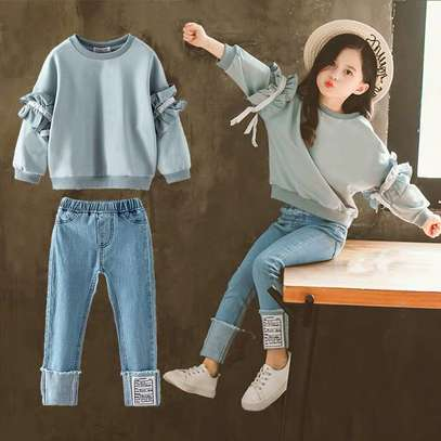Kids tops and jeans.  For pretty girls.