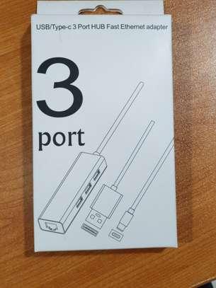 USB3.1/ type c to  RJ45  and USB 3.0 converter image 1
