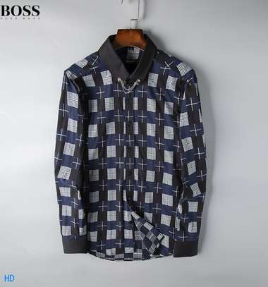 Assorted Color Boss Men's Long Sleeve Button Down Shirt in Classic Fit