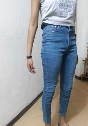 Girls' High Waisted Jeans image 1