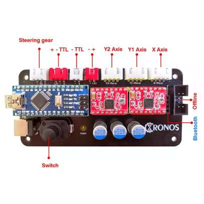 CRONOS 100*100cm 15W/30W/40W Laser Engraving/Cutting Machine image 5