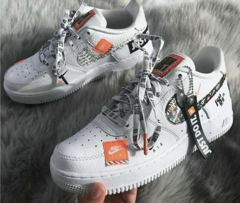Nike Just Do it Print Air Force Shoes