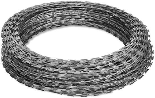 Galvanized outdoor barbed razor wire with security safety fence image 2