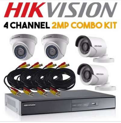 Hikvision 4 camera with 4 channel DVR fullkit