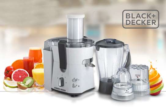 Black & Decker 500W Juicer,Blender,Grinder & Mincer - JBGM600-B5