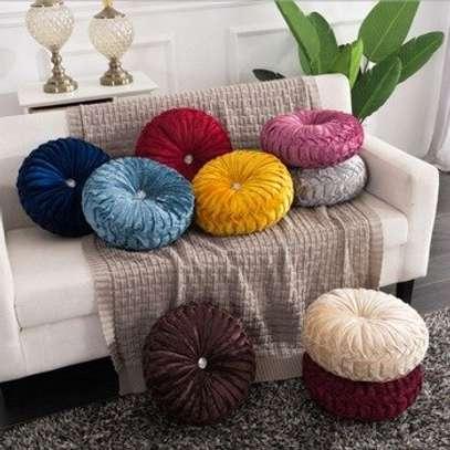 Fashion Round Cushion Velvet Fabric Soft Throw Pillow Pleated Wheel Pumpkin Seat Cushion Sofa Car Bed Chair Floor Cushions