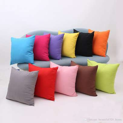 40 x 40 Decorative Pillows Solid Plain Red Blue Green Gray filled Cushion Bed Sofa Chair Seat image 2