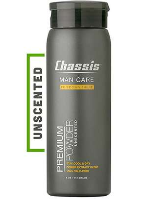 Chassis Premium Body Powder for Men, Unscented image 1
