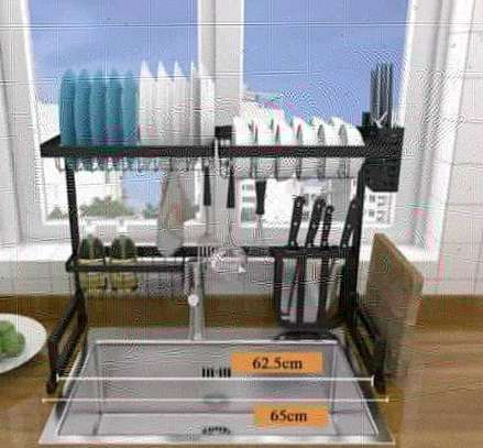 Large Over the Sink Dish Drying Rack. image 5