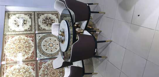 DINING ROUND TABLE HIGH CLASS WITH 6CHAIRS image 2