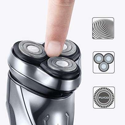 FLYCO Electric Shavers Men FS339EU, Wet & Dry Electric Razor Rotary Shaver for Men image 2