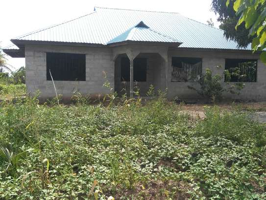 An unfinished 4 Bedroom House for Sale at Mwongozo, Kigamboni